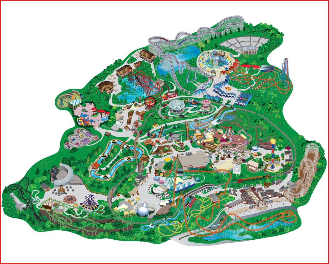 Six Flags Over Georgia Roller Coaster Tycoon Project